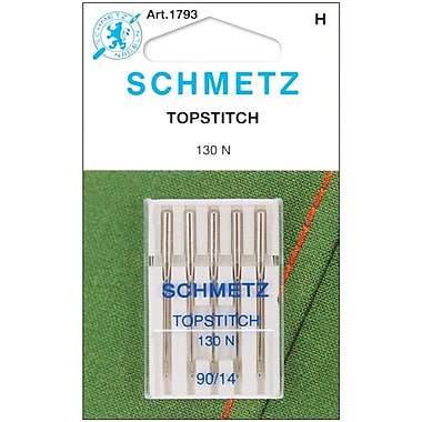 Euro-Notions Topstitch Machine Needle, Size 14/90, 5/Pack