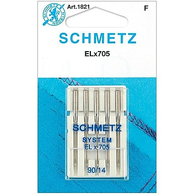 Euro-Notions ELX705 Serger Needles, Size 14/90, 5/Pack