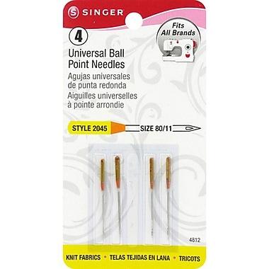 Ball Point Machine Needles, Size 11/80, 4/Pkg