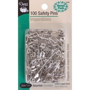 Dritz Safety Pins, Assorted Sizes, 100/Pack