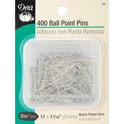 Dritz Ball Point Pins, Size 17, 400/Pack