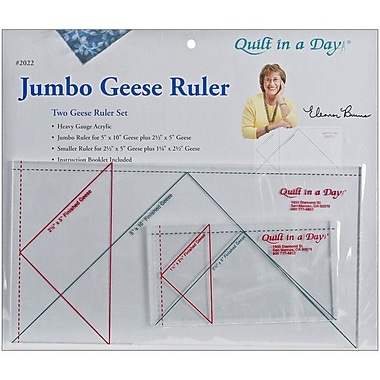 Quilt In A Day Flying Geese Rulers, Jumbo, 2 Pieces