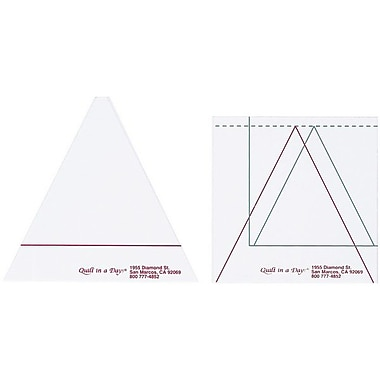 Quilt In A Day Triangle In A Square Ruler, Set Of Two