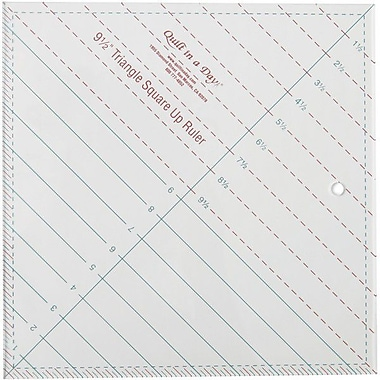 Quilt In A Day Triangle Square Up Ruler, 9-1/2