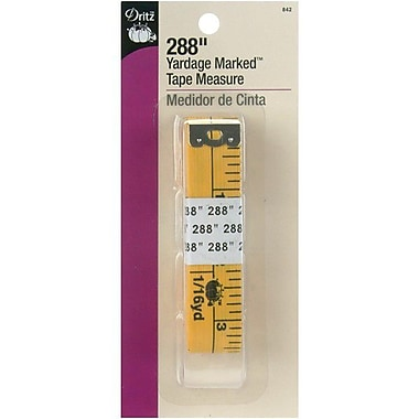 Yardage Marked Tape Measure, 288in., Yellow