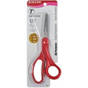 "Singer 00505 Blunt Tip 7"" All Purpose Scissors, Red"