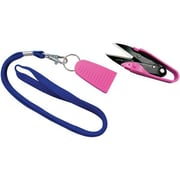 Dura Snips Squeeze-Style Thread Snips, 4-3/4, Pink & Blue