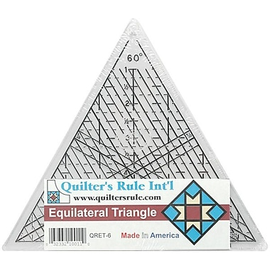 Quilter's Equilateral Triangle Ruler, 7-3/4