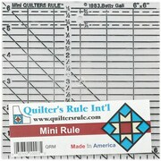 "Quilter's Mini Ruler, 6""X6"""