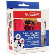 Speedball Art Products 3479 Yellow Speedball Fabric and Paper Block Printing Ink, 6/Pack