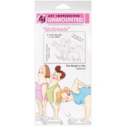 "Art Impressions Girlfriends 10"" x 4 1/2"" Cling Stamp, The Weigh In Set"
