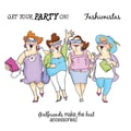 Art Impressions Girlfriends 10in. x 4 1/2in. Cling Stamp, Uptown Girls Set