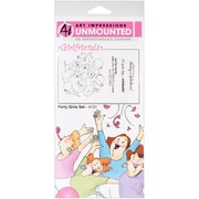 "Art Impressions Girlfriends 10"" x 4 1/2"" Cling Stamp, Party Girls Set"
