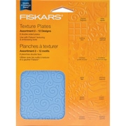 Fiskars® Double Sided Assortment II Texture Plate, 6/Pack