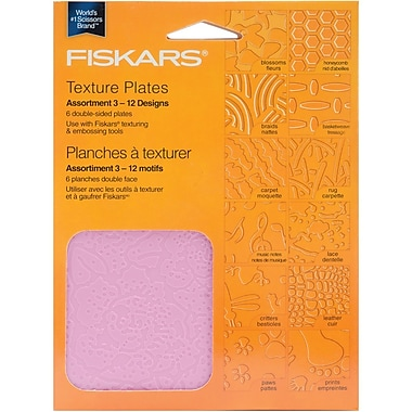 Fiskars® Double Sided Assortment III Texture Plate, Pack