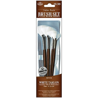 Royal Brush 4 PC White Taklon Brush Set