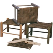 "Commonwealth Basket 9 1/2"" x 9"" x 2 1/2"" New England Footstool Kit, Natural"