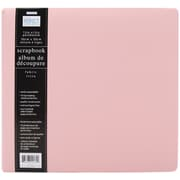 "Colorbok® 12.65"" Perfect Scrapbook Fabric Postbound Album, 12"" x 12"", Cotton Candy"