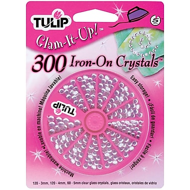 I Love To Create 23123 Tulip Clear Glam-It-Up Iron-On Crystals, Crystal, 300/Pack
