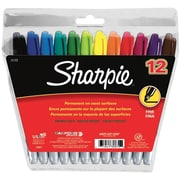 Sharpie Quick Dry Fine Point Permanent Marker, Assorted, 12/Pack