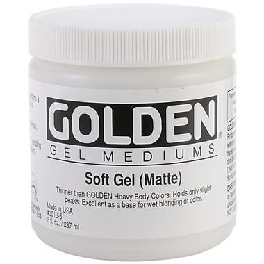Golden 8 oz. Soft Gel Medium, Matte