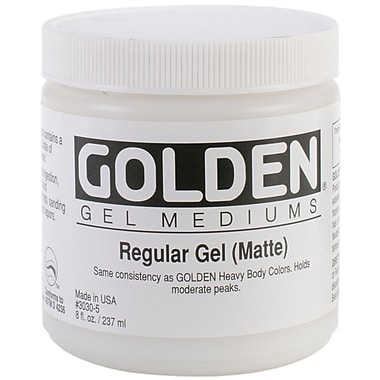 Golden 8 oz. Regular Gel Medium, Matte