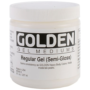 Pro-Art 8 oz. Regular Gel Medium, Semi Gloss