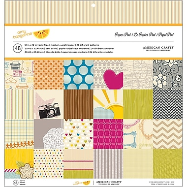 American Crafts™ Amy Tangerine Original Paper Pad, 12in. x 12in., 48/Pack