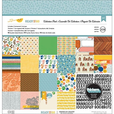American Crafts™ Amy Tangerine Ready Set Go Collection Pack, 12in. x 12in.