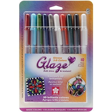 Sakura® 10 Piece Gelly Roll 3 Dimensional Glaze Pens, Clear