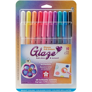 Sakura® 10 Piece Gelly Roll 3 Dimensional Glaze Pens