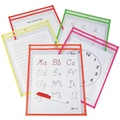 C-Line® 9in. x 12in. Reusable Dry Erase Pocket, Assorted Neon, 10/Pack