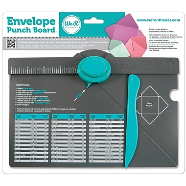 We R Memory Keepers Punch Board, Envelope, 1in.