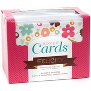 "American Crafts™ 4""X6"" Felicity Boxed Cards and Envelopes, 40/Pack"