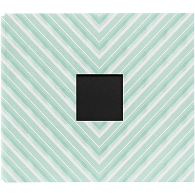 American Crafts™ Dear Lizzy 5th and Frolic Cloth D Ring Album With Window, 12in. x 12in., Chevron