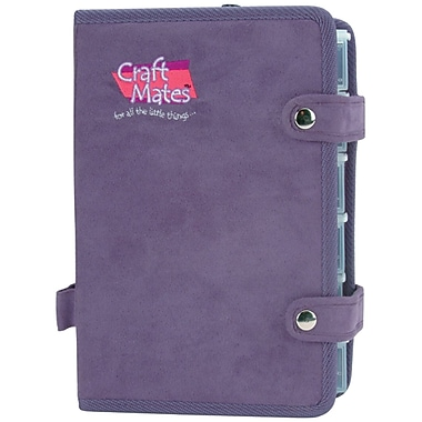 Craft Mates® Ezy Snappin' Ultrasuede Petite Double Organizer, Purple