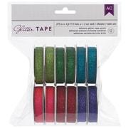 "American Crafts™ 375"" x 4' Glitter Tape, Green, 12/Pack"