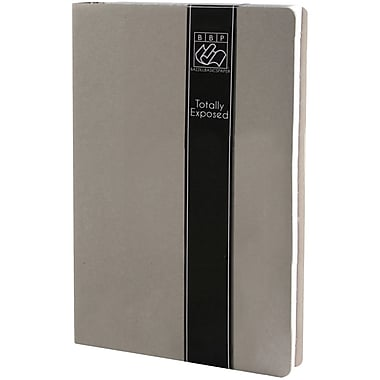 Bazzil® Totally Exposed 3 Ring Binder Album, Grey