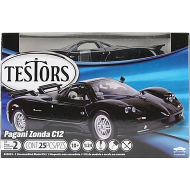Testors 650035 Pagani Zonda C12 Black Model Kit