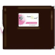 Pebbles Share and Tell D Ring Album, 12 x 12, Brown