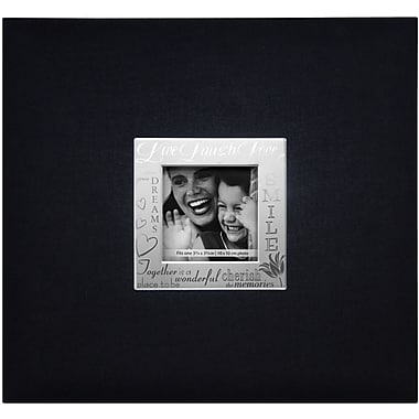 MBI® Expressions Fabric Cover Postbound Album With Window, 12in. x 12in., Black