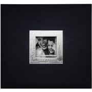 "MBI® Expressions Fabric Cover Postbound Album With Window, 12"" x 12"", Black"