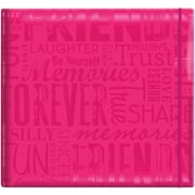 "MBI® Expressions Glossy Cover Postbound Scrapbook, 12"" x 12"", Pink"