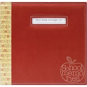 "MBI® Expressions School Memories Postbound Scrapbook, 12"" x 12"", Red Apple"