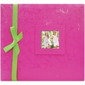 MBI® Expressions Embossed Postbound Album With Window, 12in. x 12in., Pink