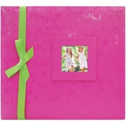 MBI® Expressions Embossed Postbound Album With Window, 12 x 12, Pink
