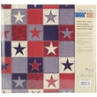 """MBI® Expressions American Stars Postbound Album, 12"""" x 12"""", Red/White/Blue"""
