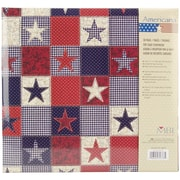 "MBI® Expressions American Stars Postbound Album, 12"" x 12"", Red/White/Blue"
