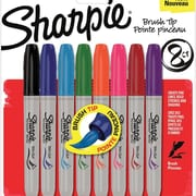Sanford® 8 Piece Sharpie Brush Tip Marker