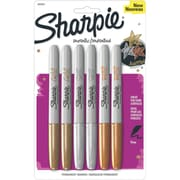 Sharpie Fine Point Permanent Marker, Assorted, 6/Pack